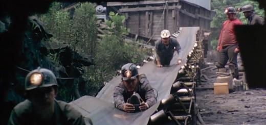 Miners on belt