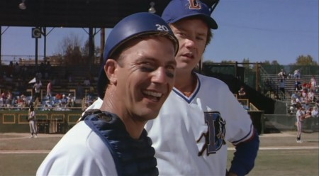 Bull Durham - Kevin Costner & Tim Robbins I think he gets a free steak