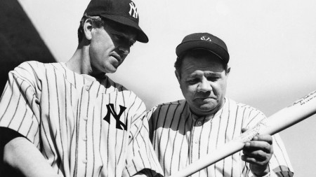 Pride of the Yankees - Gary Cooper & Babe Ruth