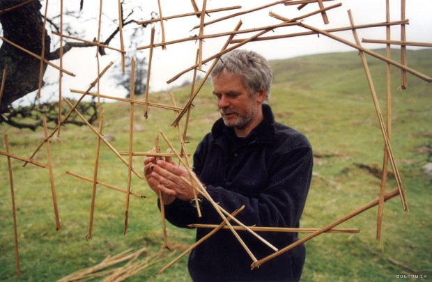 Andy Goldsworthy in the documentary about his unique art