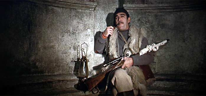 Anthony Quinn in THE GUNS OF NAVARONE