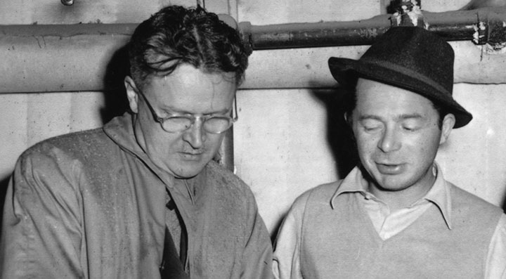 Screenwriting partners Charles Brackett and Billy Wilder