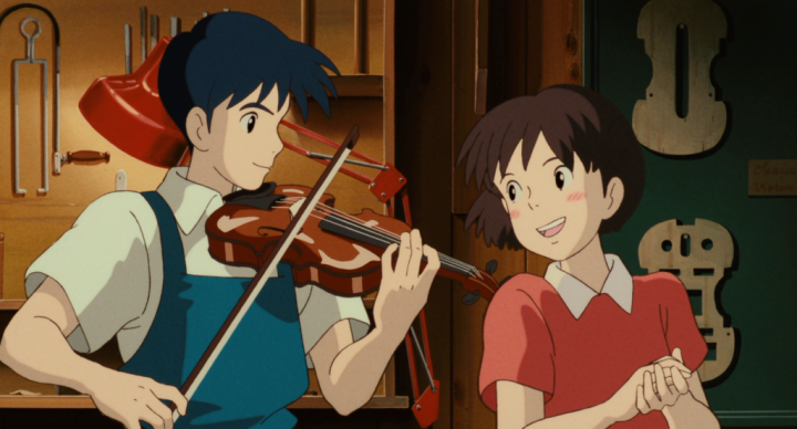 The characters sing a Japanese version of a John Denver song in WHISPER OF THE HEART