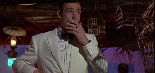 Goldfinger - Sean Connery as James Bond smoking