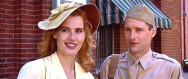Geena Davis and Bill Pullman play a typical 1940s couple in A LEAGUE OF THEIR OWN
