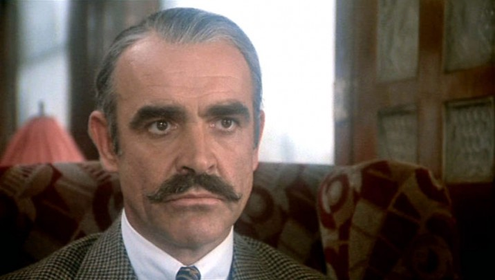 Connery faces Poirot in a moustachioed face-off