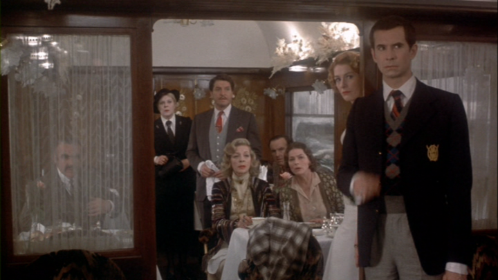 Anthony Perkins stands out even in this crowd