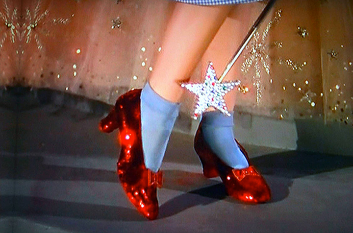 There's no place like home for Judy's ruby slippers.