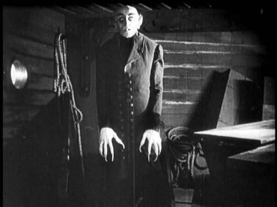 Max Schreck as Count Orlock in NOSFERATU