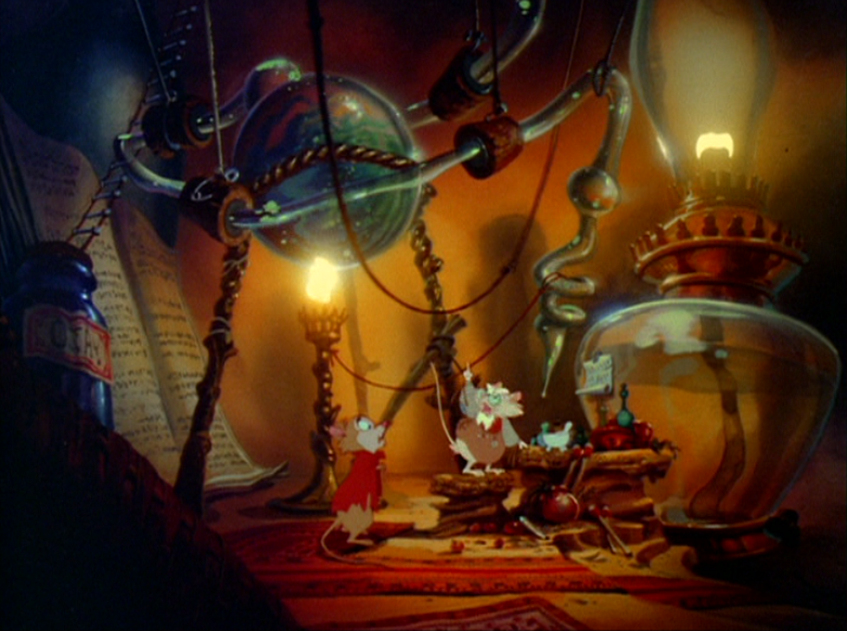 A steampunk-esque mouse laboratory in THE SECRET OF NIMH