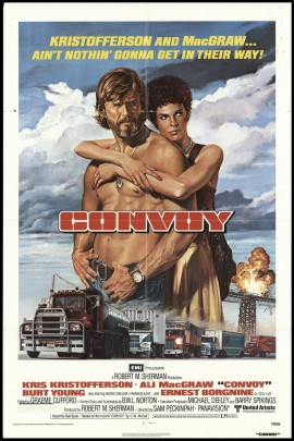 The CONVOY movie is forgettable, but the poster, unfortunately, is not