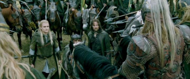 Eomer Legolas Aragorn Gimli