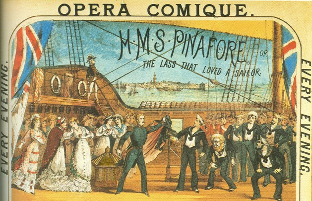 An early H.M.S. PINAFORE playbill