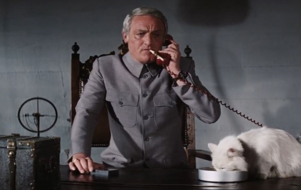 Charles Gray as Blofeld in DIAMONDS ARE FOREVER