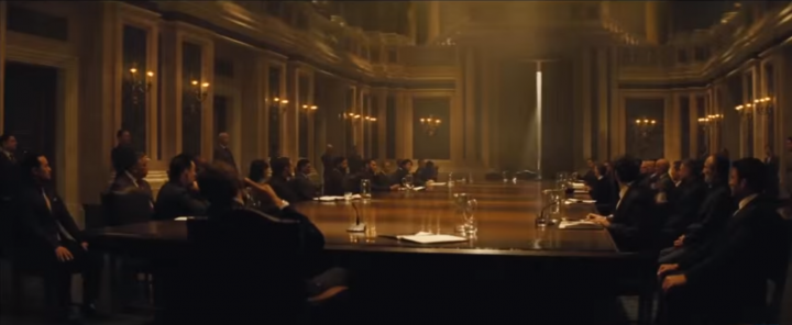 SPECTRE's best scene takes place at a classically stylish SPECTRE meeting