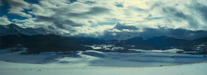 A wide vista from Tarantino's HATEFUL EIGHT