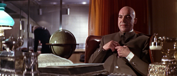 Telly Savalas as Blofeld in ON HER MAJESTY'S SECRET SERVICE