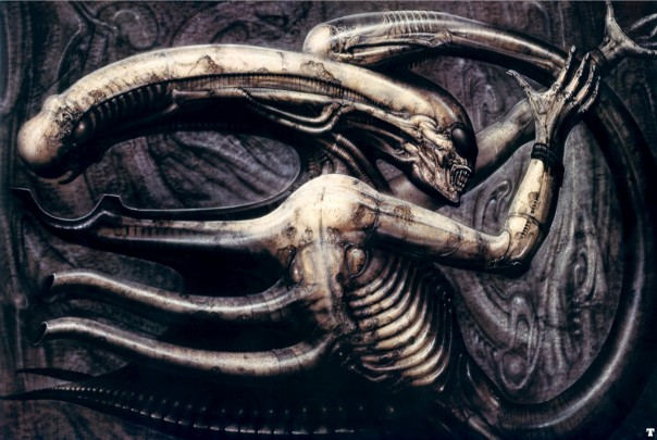 The painting NECRONOM IV by H.R. Giger was the basis of the xenomorphs in ALIEN