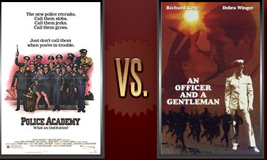 Police Academy vs. An Officer and a Gentleman Flickchart
