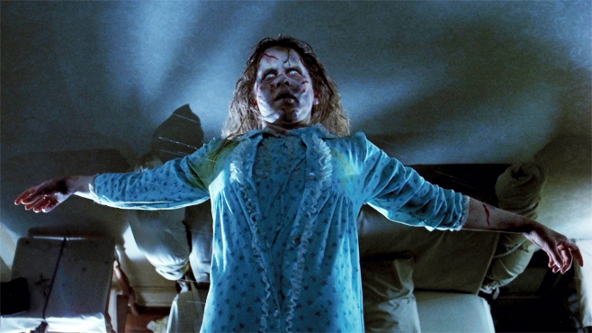 Linda Blair as Regan in THE EXORCIST; Mercedes McCambridge provided the voice