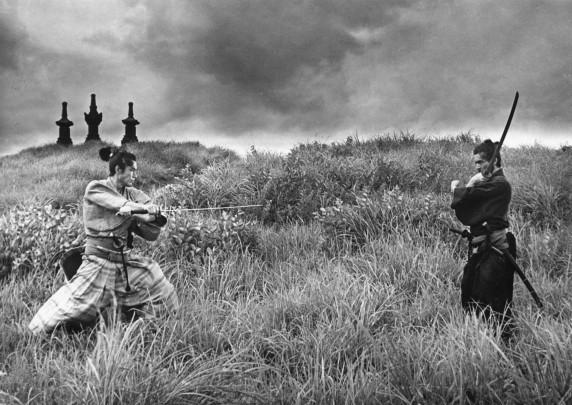 Samurai meet for battle in Masaki Kobayashi's HARAKIRI