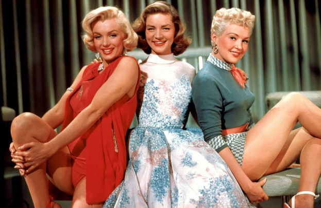 Marilyn Monroe, Lauren Bacall, and Betty Grable in HOW TO MARRY A MILLIONAIRE