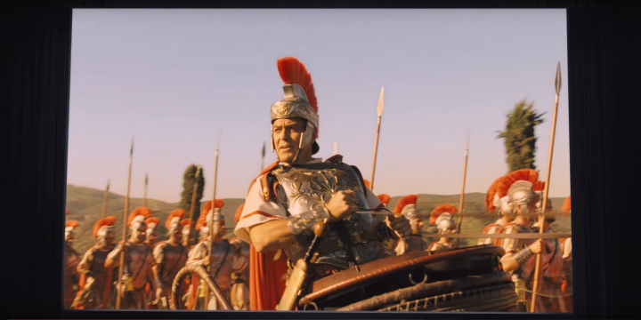 George Clooney plays the vapid but likable star of a sword-and-sandal movie