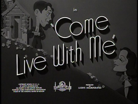 come-live-with-me-movie-title
