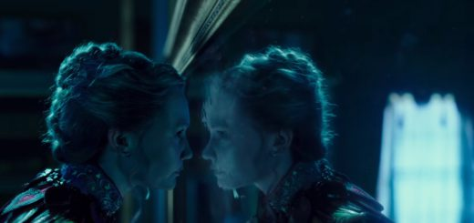 Mia Wasikowska as Alice Kingsleigh and as Alice Kingsleigh's reflection