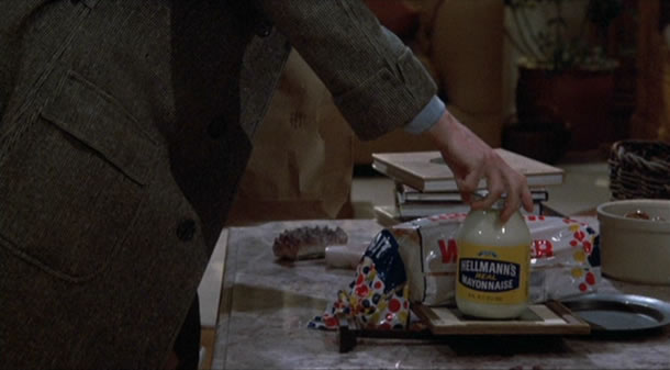 Allen's character returns from the store with a votive painting and a jar of mayonnaise in HANNAH AND HER SISTERS.