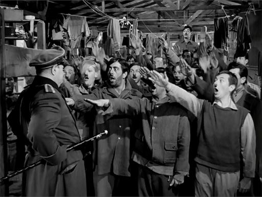 American prisoners mock their captors in STALAG 17.